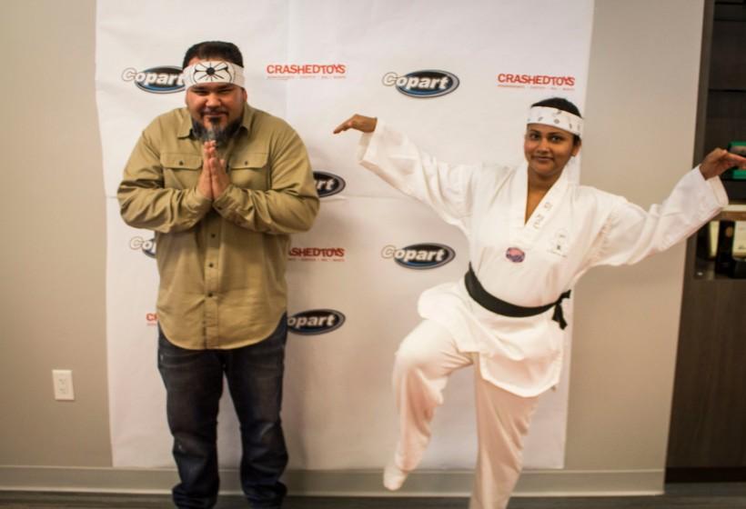 Karate Kid and Miyagi